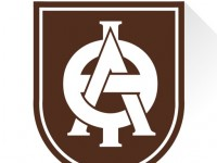 Lambda Theta Phi Logo of a shield with their Greek letters in the middle