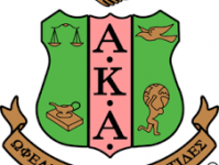 Alpha Kappa Alpha Logo of a shield and their Greek letters